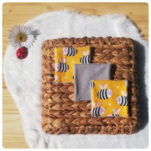 lingette lavable abeille