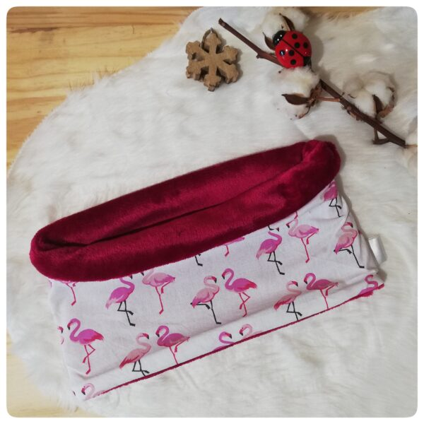 snood flamant rose