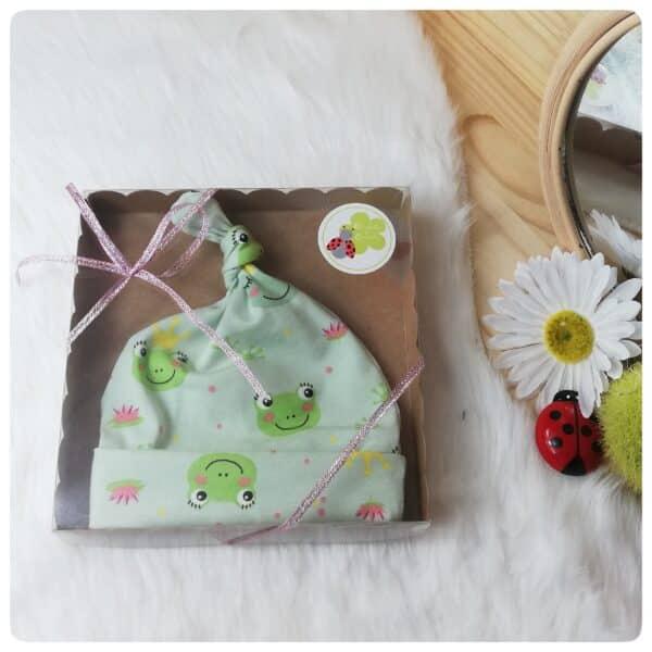 bonnet naissance grenouille